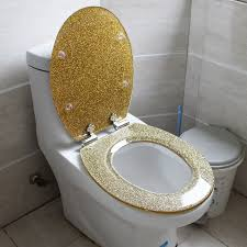 gold toilet seat cover. 1 set gold color bath accessories safety resin toilet seat nice decoration best gift cover