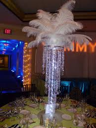 vibrant ideas chandelier centerpieces with feather tops and led lights f flickr for a bat mitzvah at the kernwood country