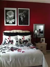 Red Black And White Bedroom