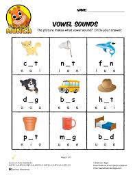 Circle all the picture of things that have the. Vowel Sounds Phonics Worksheet