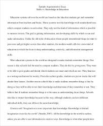 Of An Argumentive Essay Opinion Of Professionals