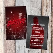 Personalized Superhero Birthday Invitations Daredevil Superhero Personalized Birthday Invitation 2 Sided
