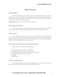 years experience resumes software tester sample resume manual testing resume sample software