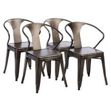 industrial metal chairs set 4 dining living family room durable stackable retro tabouret modern