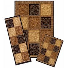 home interior obsession 4 piece rug sets powerful area home dynamix ariana brown 5 ft