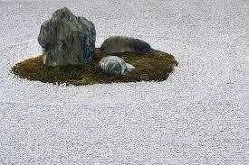 zen garden raked gravel circle and rock feature stock image throughout designs 38