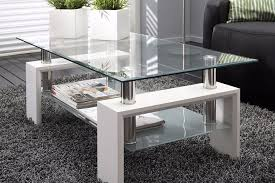 white modern rectangle glass chrome living room coffee table with lower shelf brand new