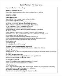 Sample Dentist Job Description 9 Examples In Pdf