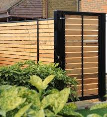 constructed modern back gate ideas deep frame with cedar cladding crafted by hand by gates york gate by gates and fences uk