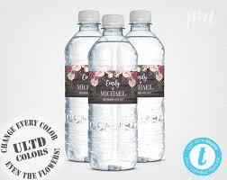 Water Bottles Templates Rustic Floral Wedding Water Bottle Label Template Printable