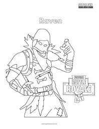 Fortnite Raven Coloring Page Valentines Ideas In 2019 Coloring