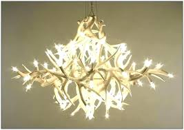faux antler chandelier deer fake white
