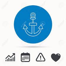 Nautical Growth Chart Anchor Icon Nautical Drogue Sign Sea And Sailing Symbol Calendar