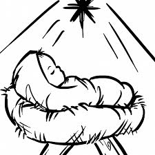 Coloring Pages Coloring Pagesaby Jesus Sheet Free Christmas Manger