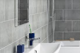 grey stone tile effect bathroom panels enlarged view