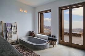 Partially sunken bath; image via Trendir