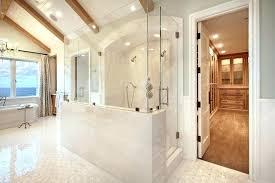astounding glass shower door and half wall half wall shower glass image of awesome half glass