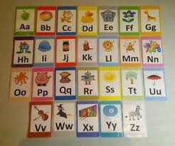 alphabet picture cards a z alphabet flash cards set educational learning picture letter