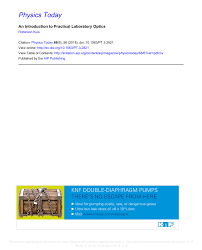 Lens Design A Practical Guide Pdf Pdf An Introduction To Practical Laboratory Optics