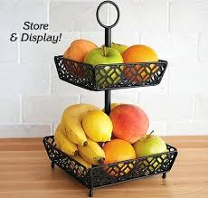 2 tier countertop fruit basket stand farmhouse fresh finds zoom
