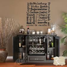 bar wall decal word art by royce lane creations on etsy  on wine bar wall art with bar wall decal liquor names word art bar wall decor bar art bar wall