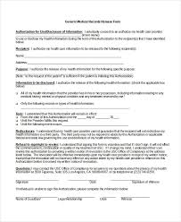release of medical information template 10 medical release forms free sample example format free