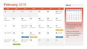 calendar template for powerpoint powerpoint calendar template year 2018 slidemodel