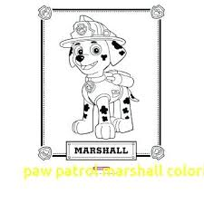 Paw Patrol Coloring Pages Marshall 16186