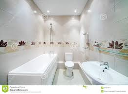 Bathroom With Tiles Clean Bathroom With Toilet With Simple Grey Tiles Stock Images