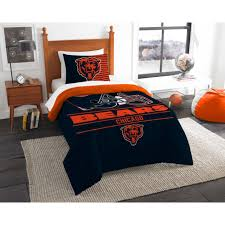 chicago bears bedding set nfl licensed 2 piece comforter sham bed in a bag twin