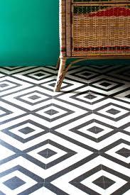 patterned vinyl flooring vintage statement hallway floor vintage