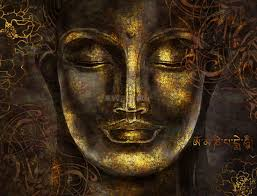 Buddhist Art Gold Style 3D Look Buddha ...