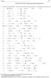 chemical equation practice worksheet chemistry formula balancing equations