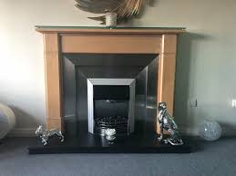 solid maple wood fireplace surround stainless steel insert