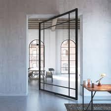 Full Glass Doors Design Catalogue Portapivot 6530 Xl Black Anodized Designer Glass