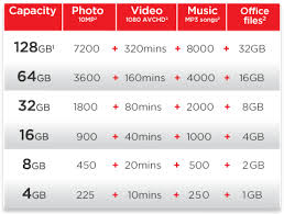 Flash Memory Capacity Chart Sandisk 16gb Cruzer 50 Blade Usb2 0 Flash Drive Sdcz50 016g B35 Blk