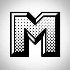 M Lettering Design W M Crown Branding Halftone Design Comics Lettering