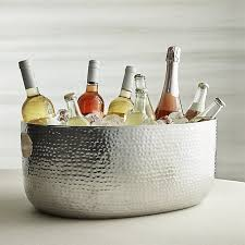 Aluminum crate barrel Aluminum Dining Bashbeveragetubshs16 Sproutupco Bash Silver Beverage Tub Reviews Crate And Barrel