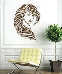 Small Picture Wall Decal Vinyl Sticker Beautiful Girl Face Long Hair Style Salon