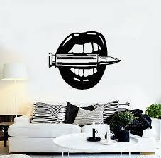 vinyl wall decal y girl lips woman