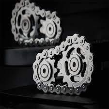 Bánh Xích Bánh Đà Đầu Ngón Tay Con Quay Hồi Chuyển Bánh Xích Dây Xích EDC  Kim Loại Đồ Chơi Bánh Răng Dây Chuyền Con Quay Giảm Stress Tàu Sproket  Roadbike Spinner