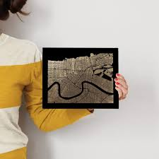 on map of new orleans wall art with new orleans map foil pressed wall art by alex elko design minted