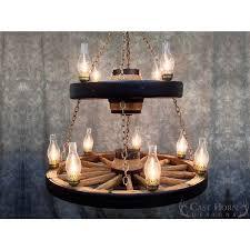 rustic double wagon wheel chandelier within prepare 19