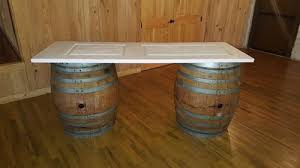wine barrell furniture. picture of wine barrel table set up natural barrell furniture b