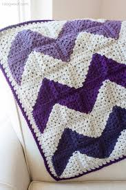 Double Crochet Chevron Blanket Pattern Interesting Inspiration Design