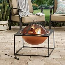 better homes and gardens fire pit. Contemporary And Better Homes And Gardens 26u0026quot Outdoor Square Fire Pit With Copper  Finish Bowl Perfect For To And E