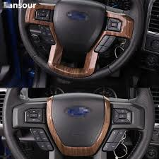 sansour abs car steering wheel decoration trim cover interior accessories stickers for ford f150 2016 2016