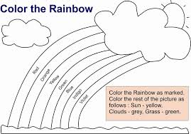 Small Picture Rainbow Coloring Pages for Kids