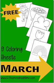 There is a theme here for every type of kid. Free Printable March Coloring Pages