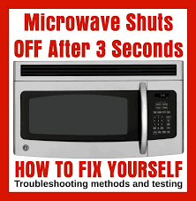 microwave turns off after 3 seconds